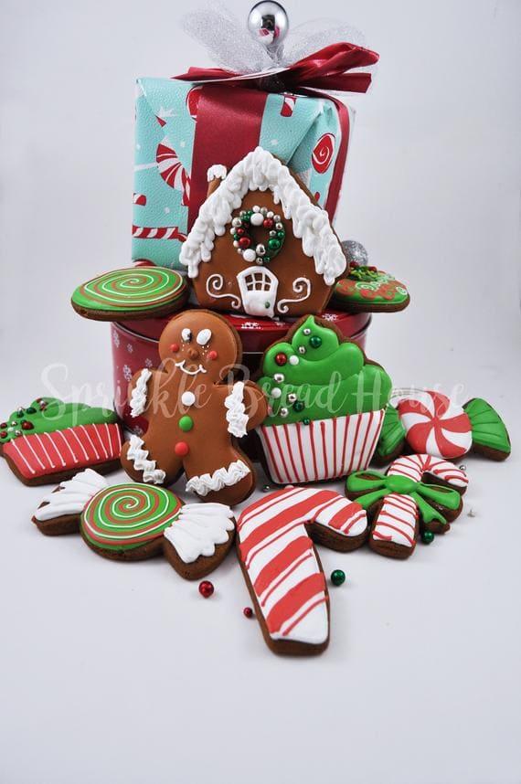 Christmas gingerbread cookies adorable Christmas Cookies
