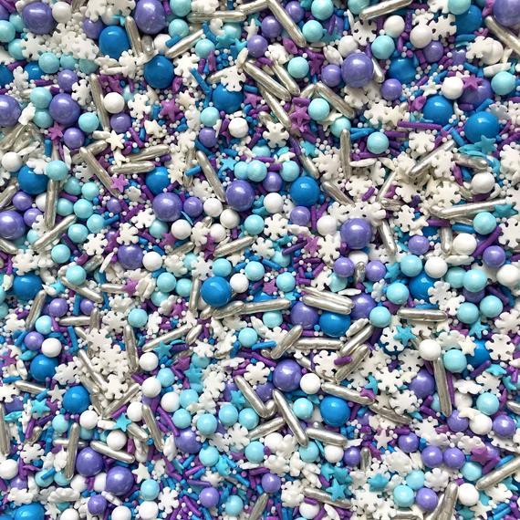 Sprinkles Snowflake sprinkle Snowflake sprinkle mix | Etsy