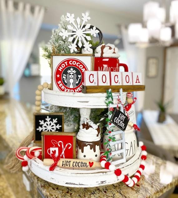 Hot Cocoa Tiered Tray Set