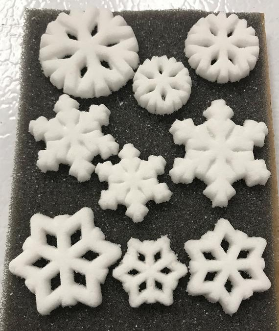 Snowflake Sugar Shapes | Etsy