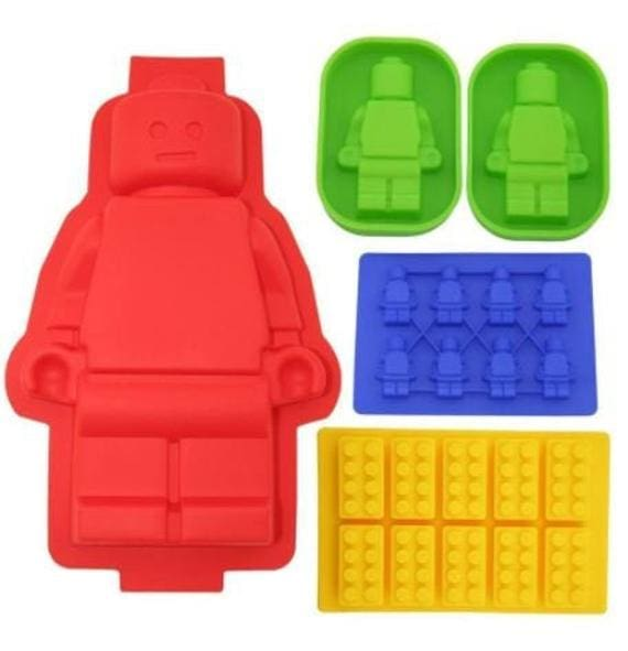 Lego 5 Piece Silicone Mold Set