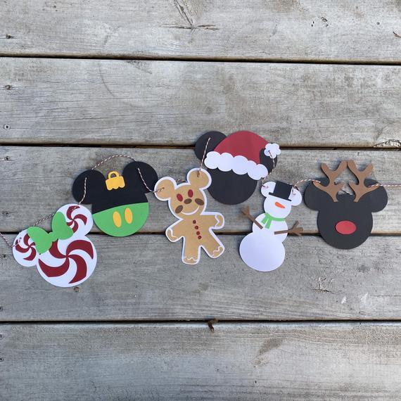 Mickey & Minnie Christmas Banner