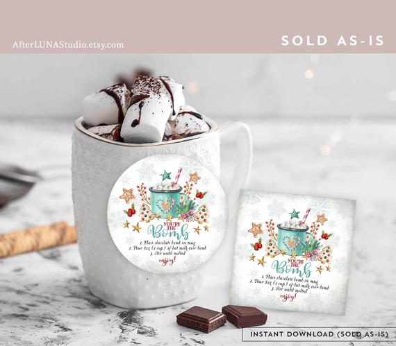 Hot Chocolate Bomb Gift Tag
