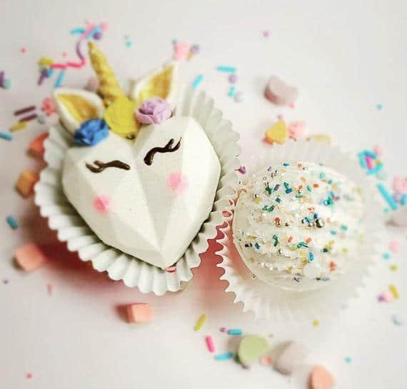 Heart Unicorn Hot Chocolate Bomb
