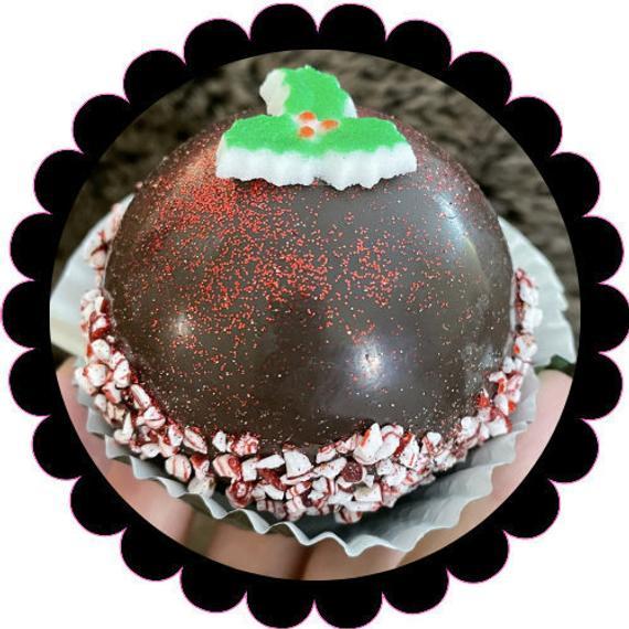 Dark Chocolate Peppermint Hot Chocolate Bomb Hot Cocoa Bombs