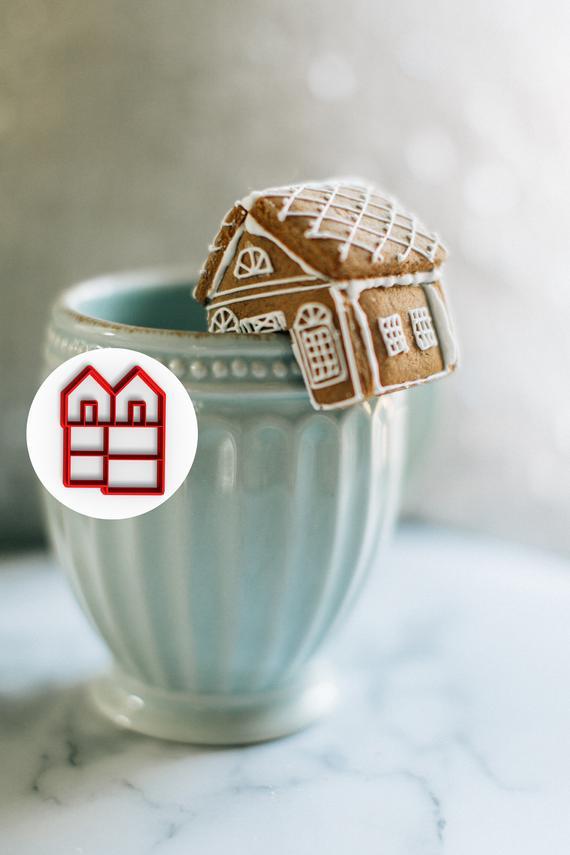 Mini Gingerbread House Mug Topper Cookie Cutter