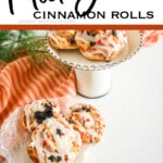 mickey mouse cinnamon rolls with text which reads mickey cinnamon rolls