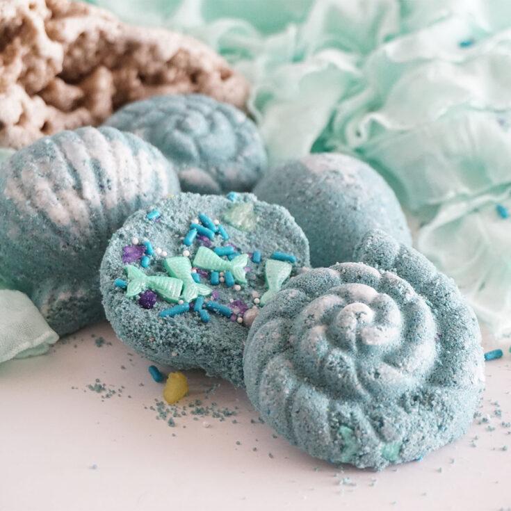 DIY Mermaid Shell Bath Bombs Square
