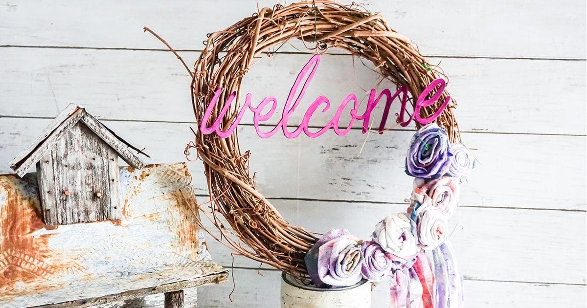Grapevine Wreath Cricut Craft Horizontal