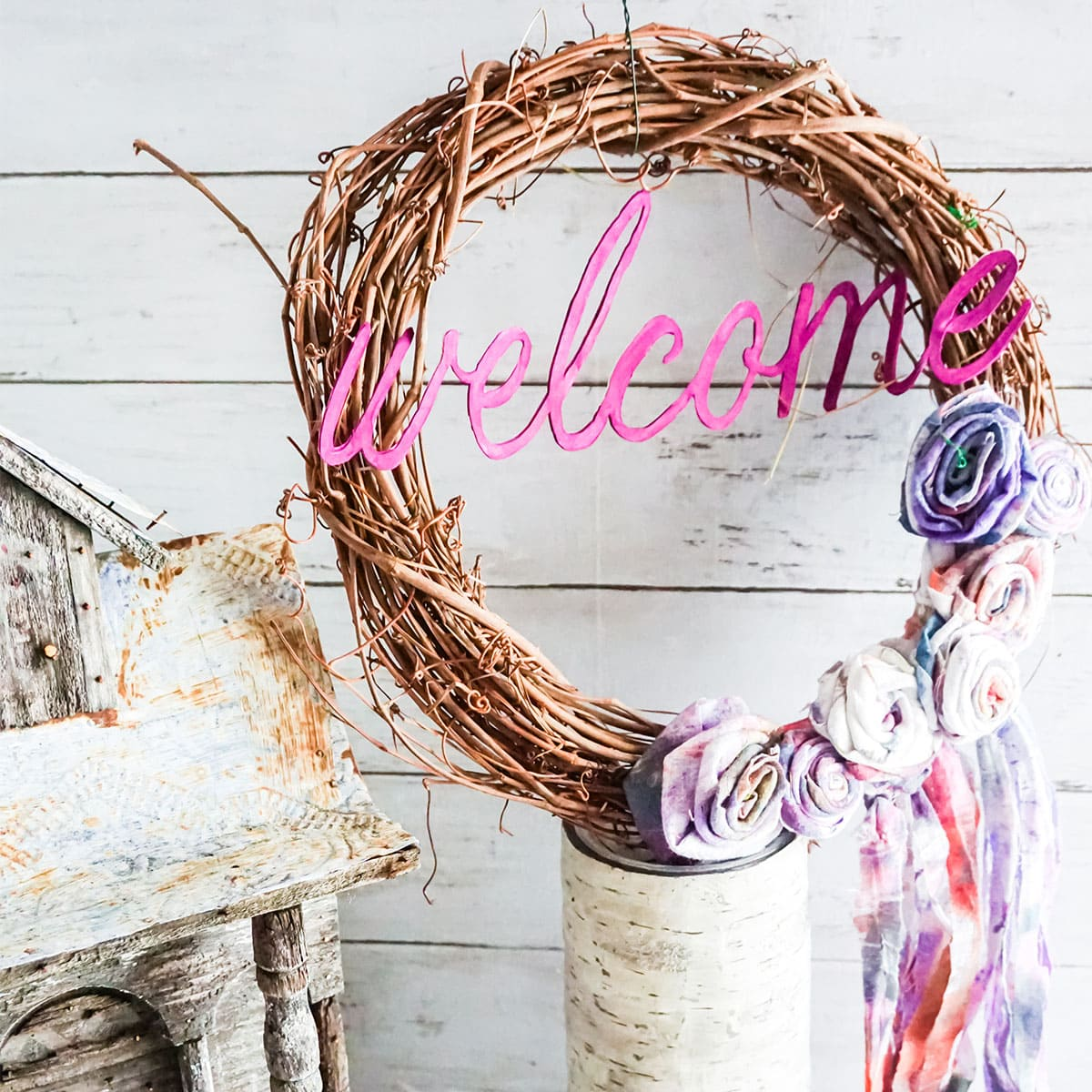 Grapevine Wreath Cricut Craft Square