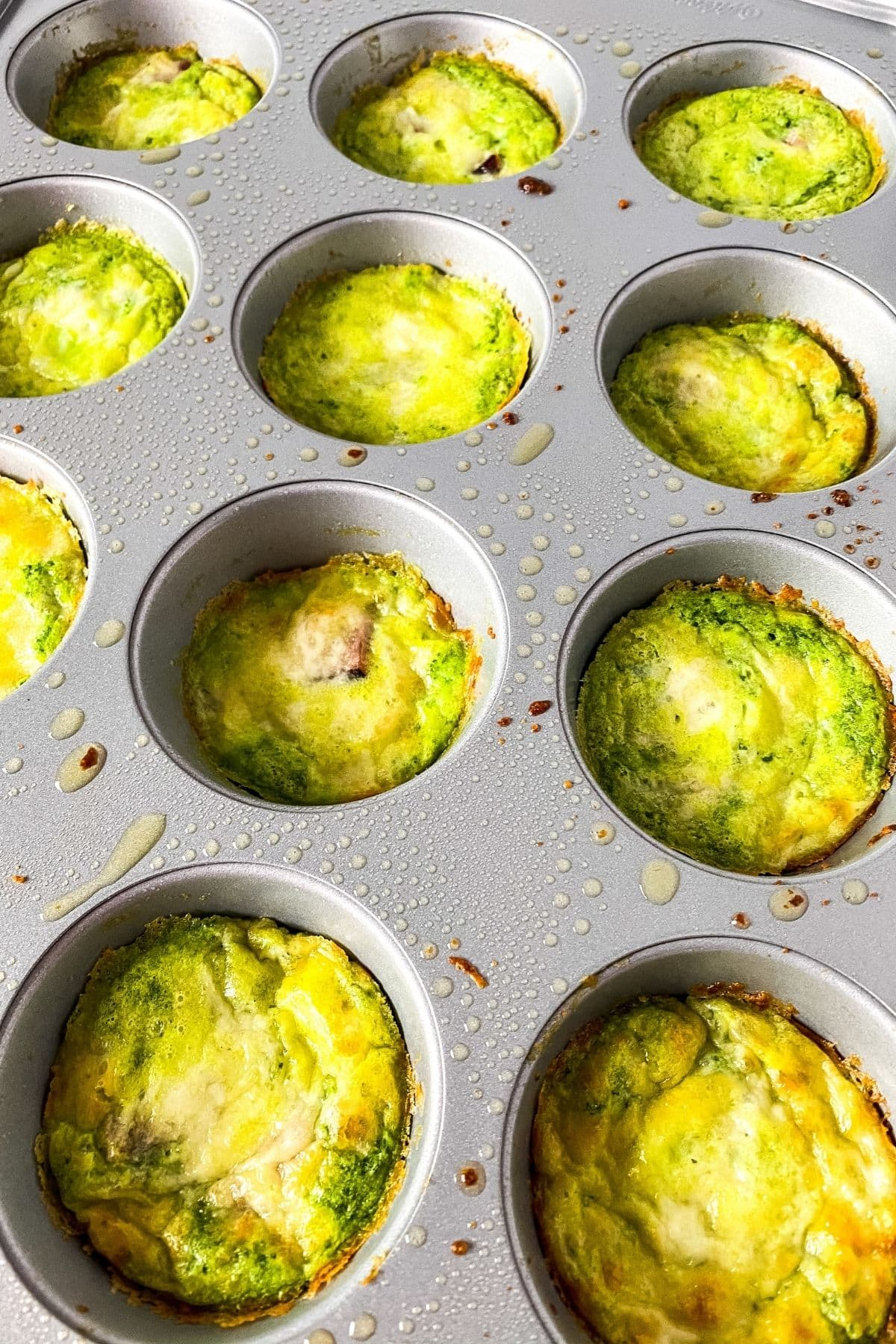 Breakfast muffins in tin