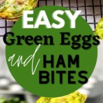 Green eggs and ham muffins collage