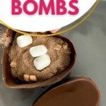 Heart hot cocoa bombs