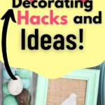 26 Easy Spring Decorating Hacks and Ideas. Underneath sits a turquoise bird stencil put on a burlpa sheet in a turqoise frame