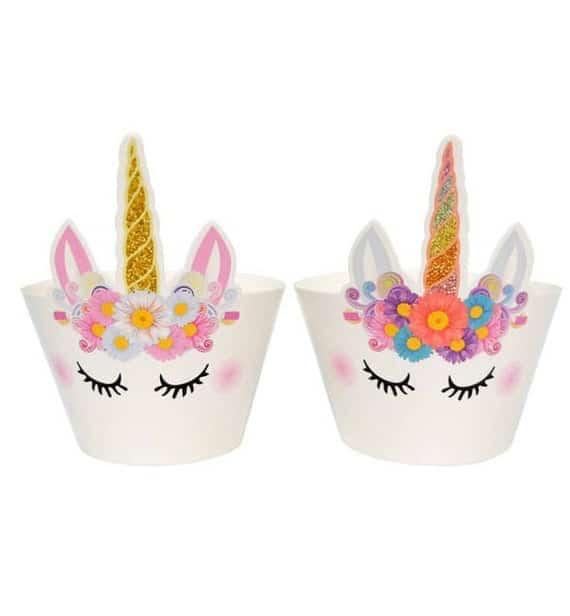 Unicorn Cupcake Wrappers Set of 12 | Etsy