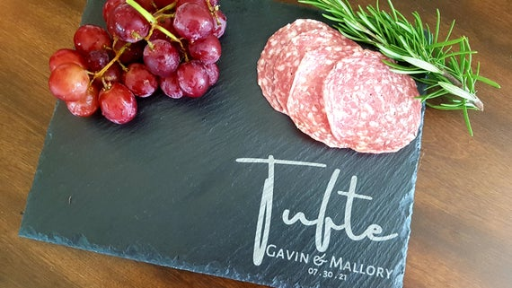Slate Charcuterie Board Personalized Slate Cheese Board | Etsy