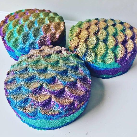 Rainbow Mermaid Bath Bomb | Etsy