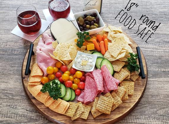 Charcuterie Board Round extra large charcuterie cheese Board   Etsy