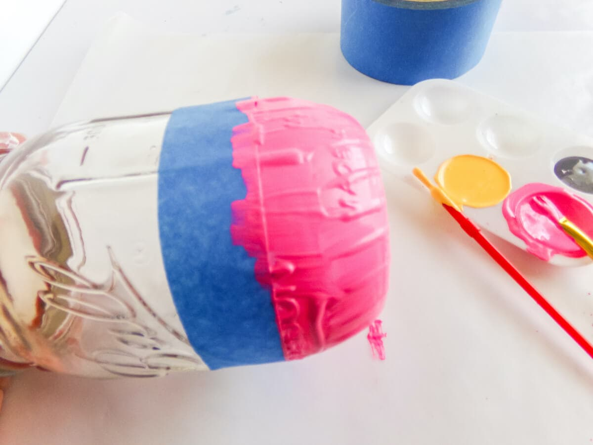 how to paint a pencil jar