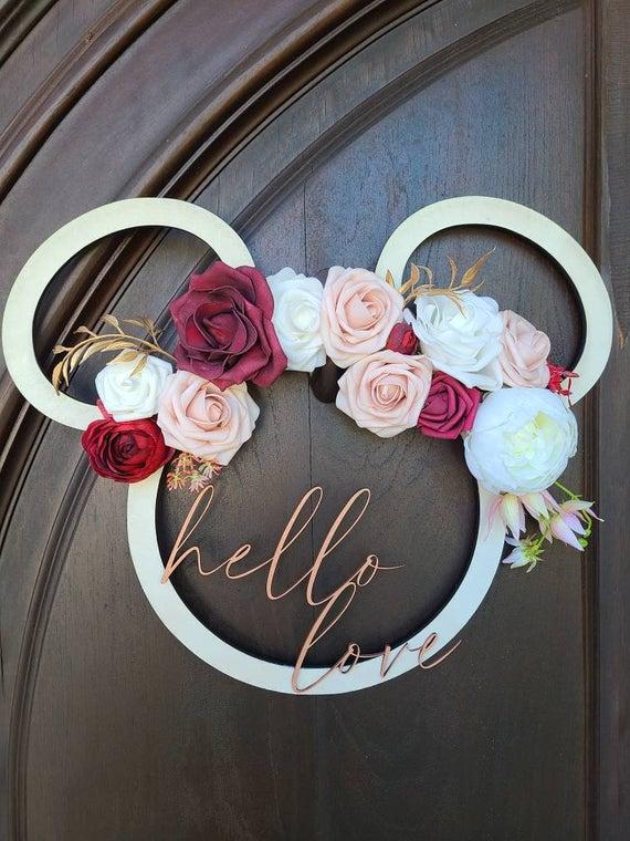 Hello Love Disney Door Hanger