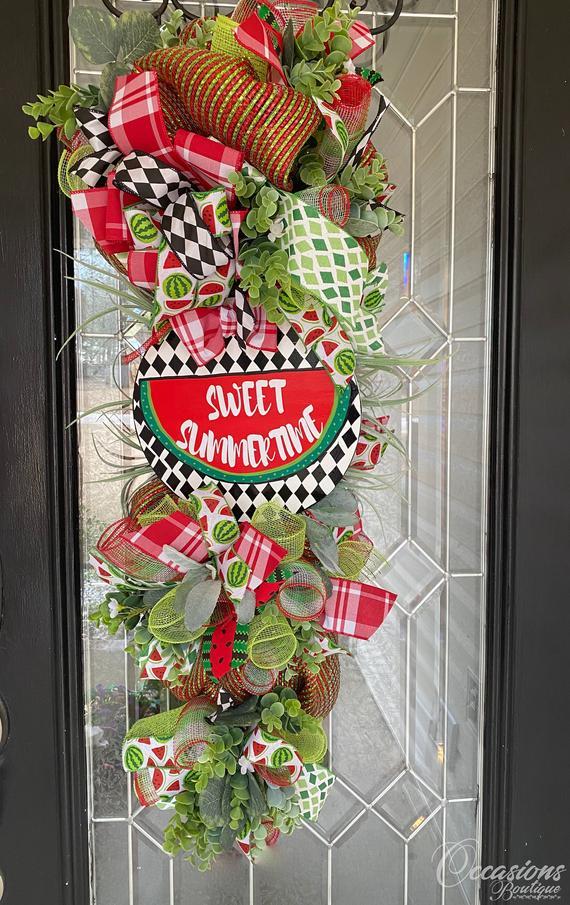 Summer Door Swag Watermelon