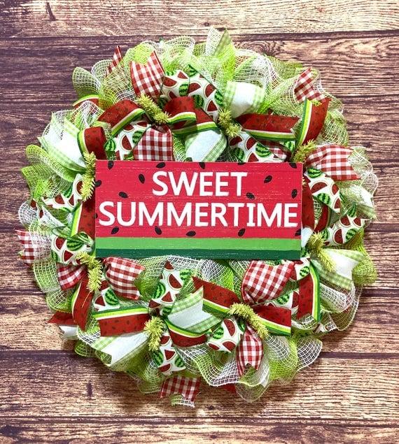 Sweet Summertime Watermelon Wreath