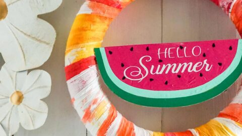 watermelon wreath cricut craft