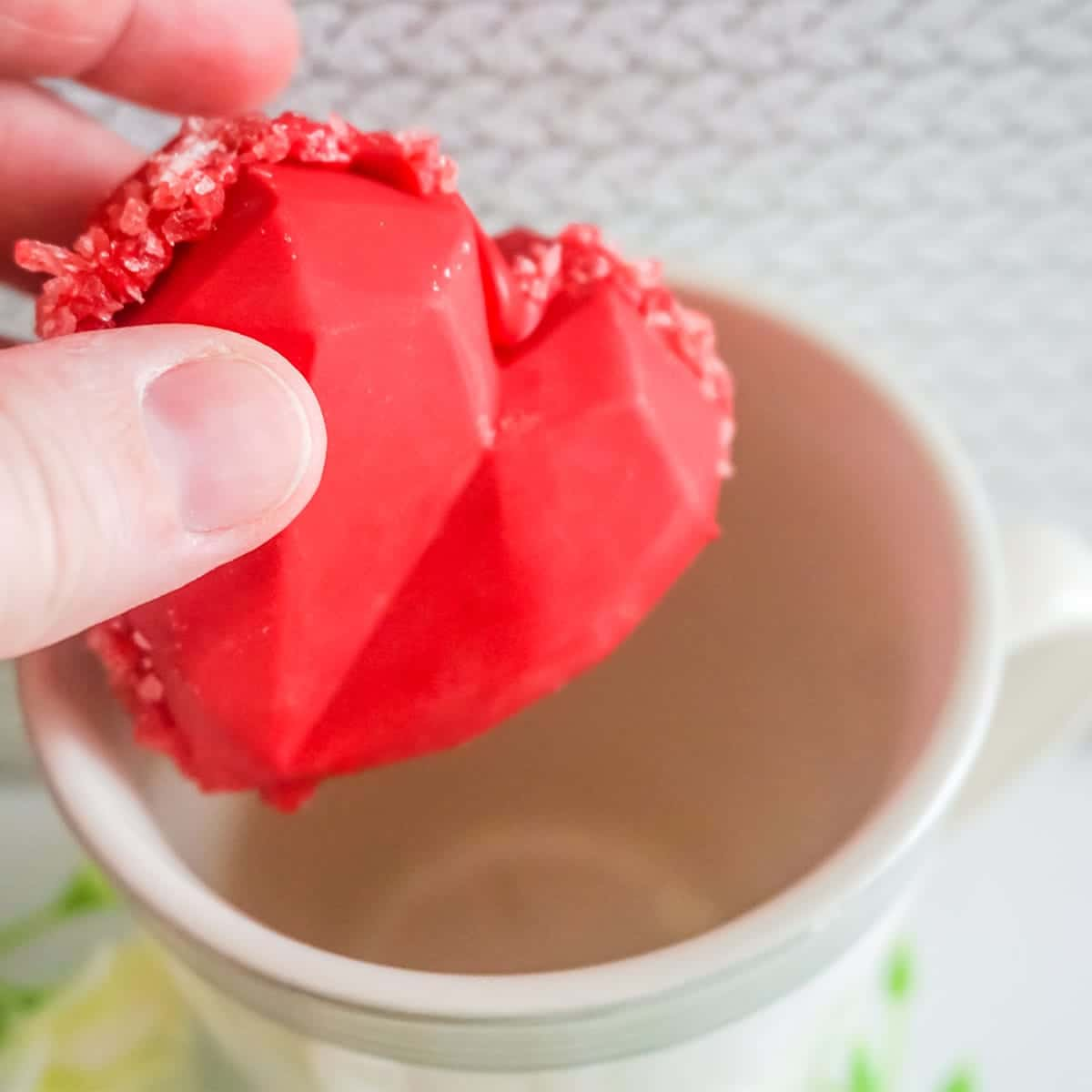 Red Heart Rock Candy Hot Cocoa Bombs