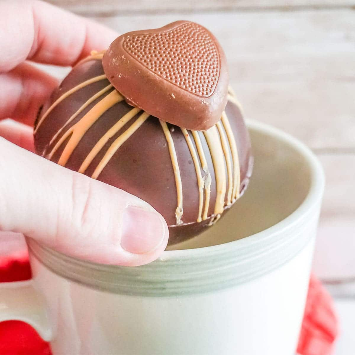 reeces candy hot cocoa bombs