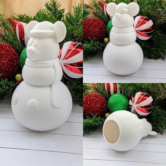 Ceramic Snowman Mickey