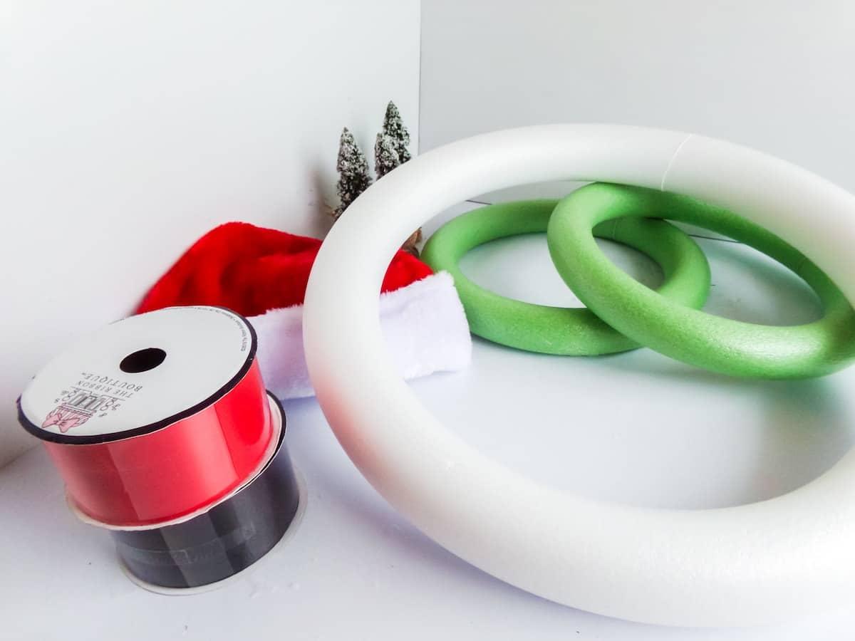 supplies to make a mickey christmas wreath