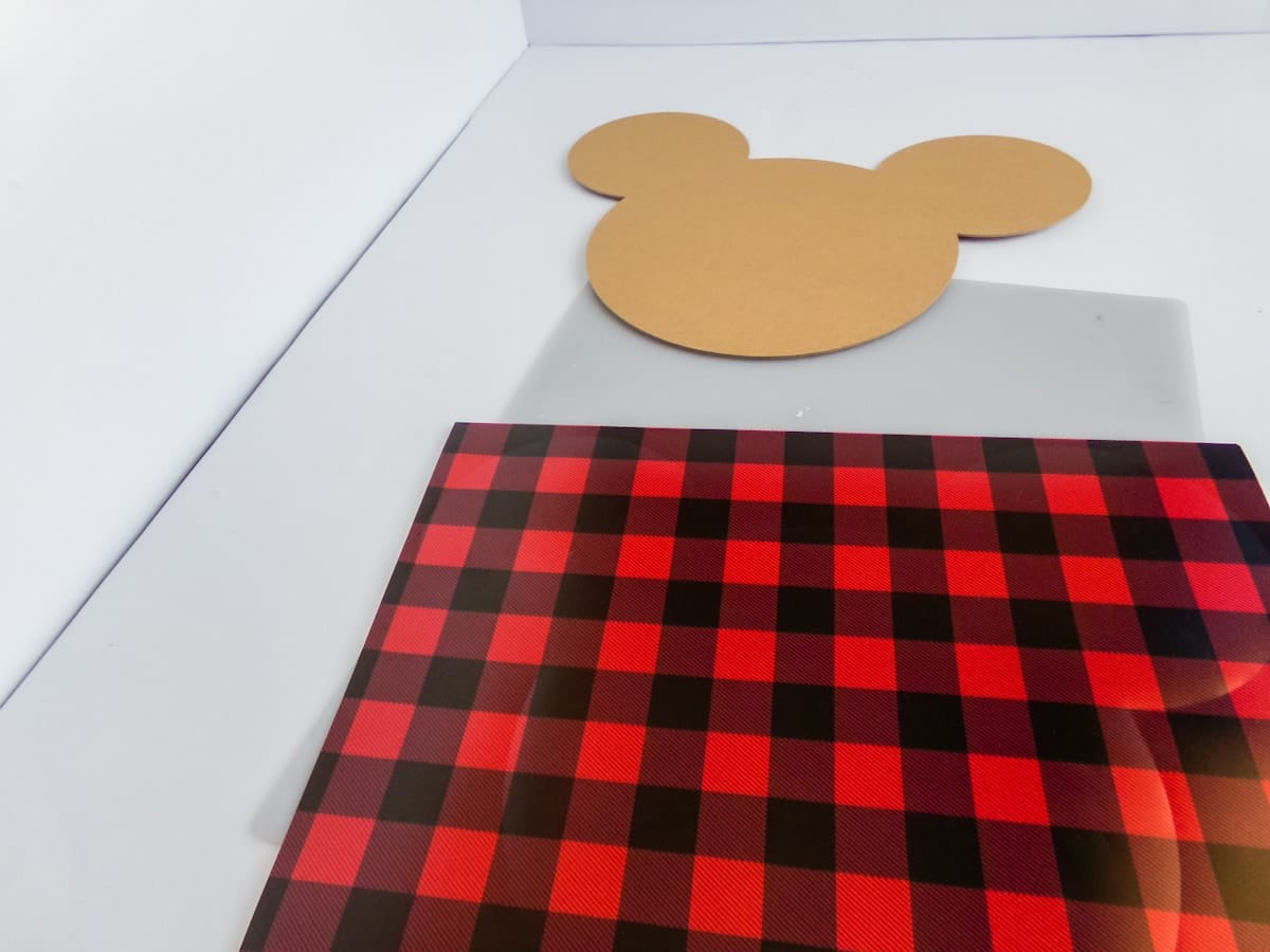 in-process step of making a mickey centerpiece